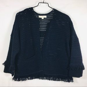 LOFT Fringed Cardigan Sweater
